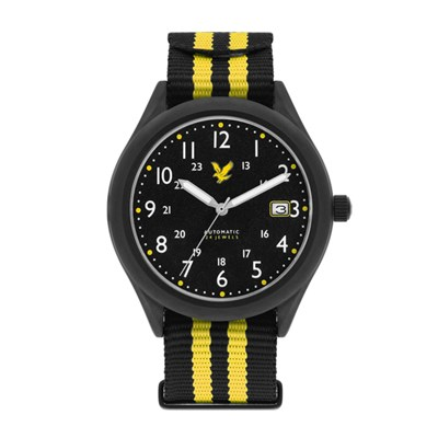 Lyle & Scott Gent's Stealth IP Watch with Nato Strap