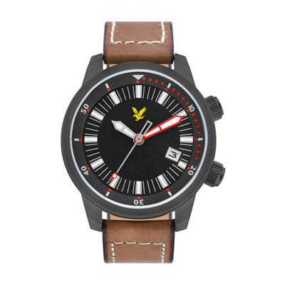 Lyle & Scott Gent's Border Watch with Genuine Leather Strap