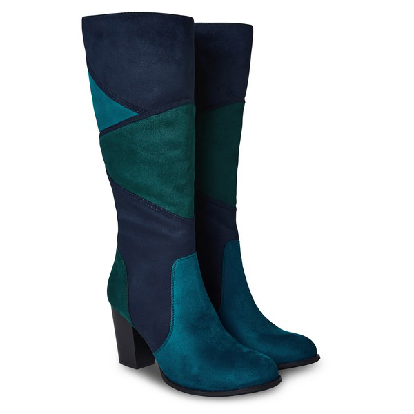 Joe Browns A Mix Of Emotion Long Boots Teal Multi