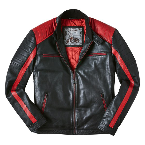 Joe Browns Hit The Road Leather Jacket Black/Red