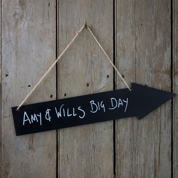 Ginger Ray Wooden Chalkboard Arrow - Vintage Affair No Colour