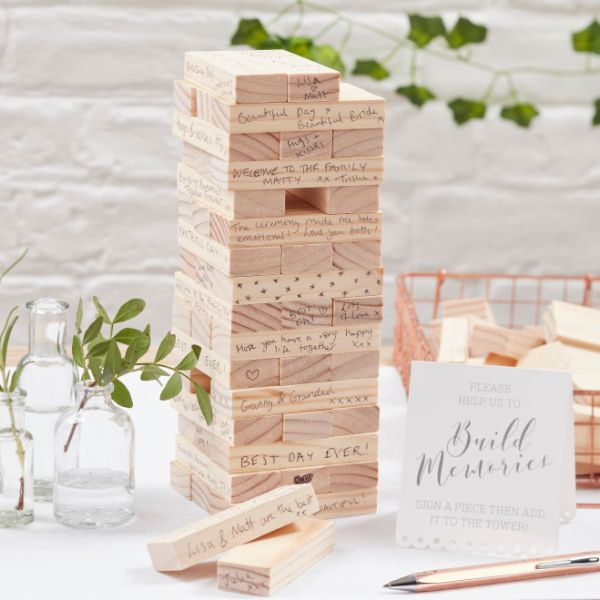 Ginger Ray Build A Memory Building Blocks Guest Book - Beautiful Botanics No Colour