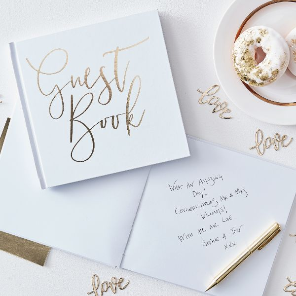 Ginger Ray Guest Book - Gold Foiled No Colour
