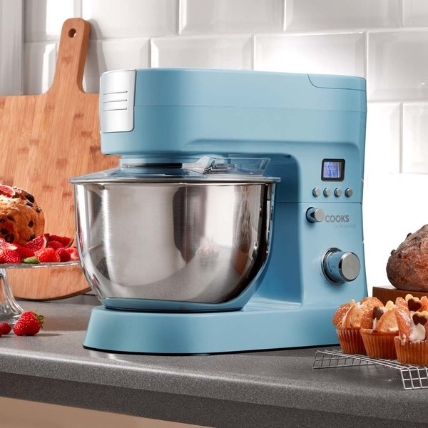 Cooks Professional G2881 Blue 1200W Stand Mixer No Colour