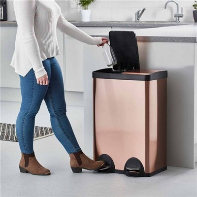 Cooks Professional G3514 60L Copper/Bronze Dual Recycle Bin