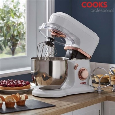 Cooks Professional G3477 800W White with Rose Gold Stand Mixer