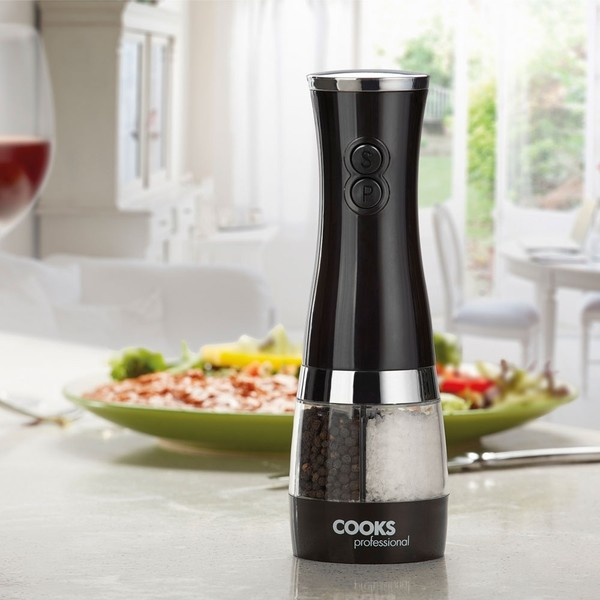 Cooks Professional G0400 All in One Electric Salt & Pepper Mill No Colour