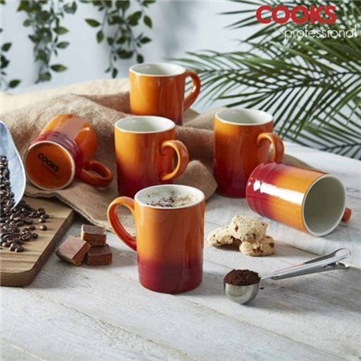 Cooks Professional G4250 Burnt Orange 6pc Mug Set