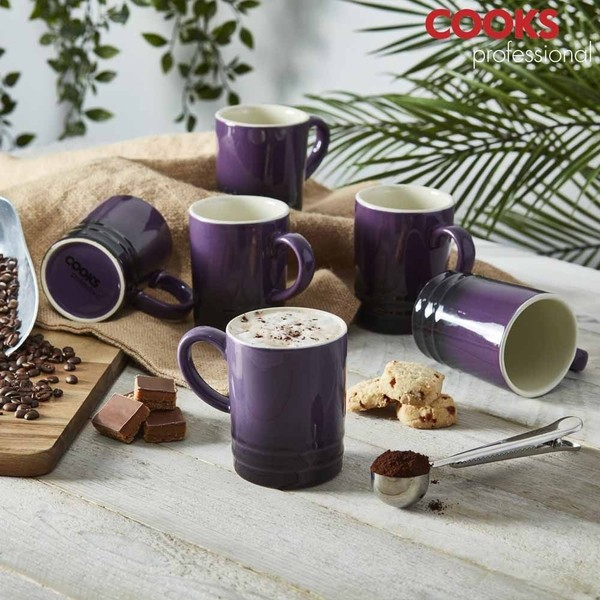 Cooks Professional G4249 Heather Purple 6pc Mug Set No Colour