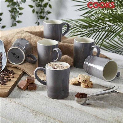 Cooks Professional G4251 Misty Grey 6pc Mug Set