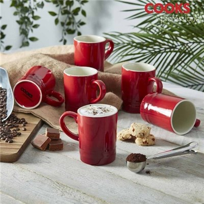 Cooks Professional G4248 Ruby Red 6pc Mug Set