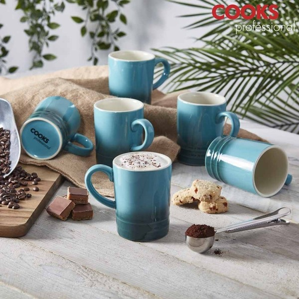 Cooks Professional G4252 Summer Teal 6pc Mug Set No Colour