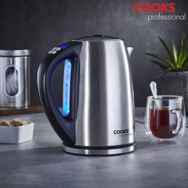 Cooks Professional G4192 Stainless-Steel Digital Temperature Control Kettle No Colour