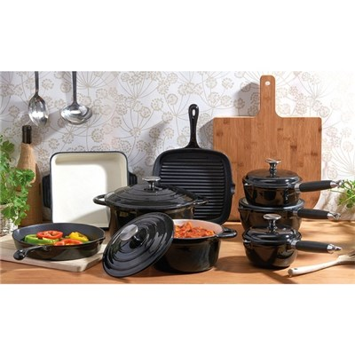 Cooks Professional D9583 Black 8pc Cast Iron Set