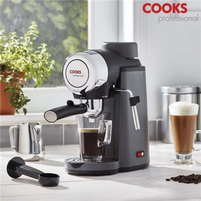 Cooks Professional Grey Espresso Coffee Machine