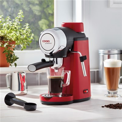 Cooks Professional Red Espresso Coffee Machine