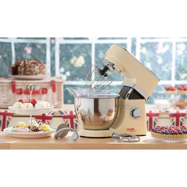 Cooks Professional D8993 Cream 5L Stand Mixer No Colour