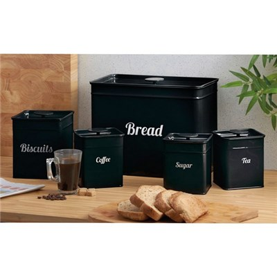Cooks Professional G0324 Black 5 Piece Kitchen Storage Set