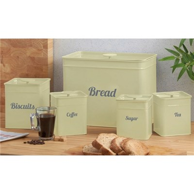 Cooks Professional G0323 Cream 5 Piece Kitchen Storage Set