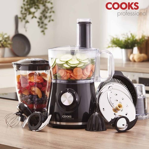 Cooks Professional D9794 Food Processor with 12 Accessories No Colour