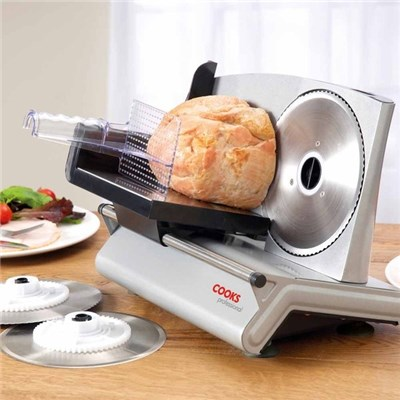 Cooks Professional G2868 Food Slicer with Three Blades
