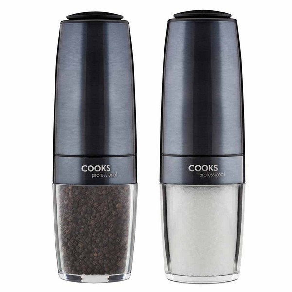Cooks Professional G4234 Graphite Gravity Salt and Pepper Mill Set No Colour
