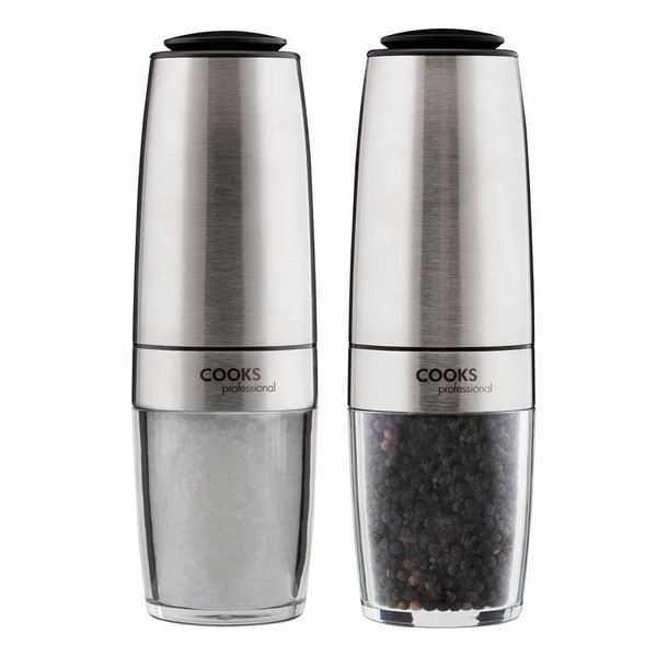 Cooks Professional G4233 Stainless-Steel Gravity Salt and Pepper Mill Set No Colour