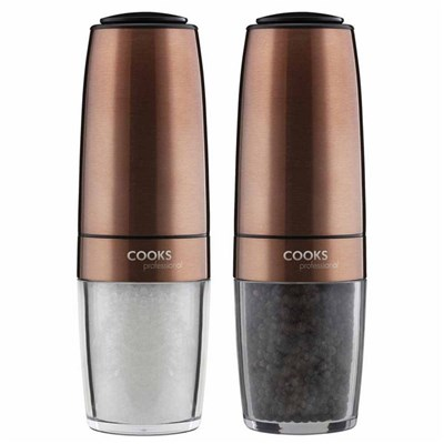 Cooks Professional G4235 Copper Gravity Salt and Pepper Mill Set