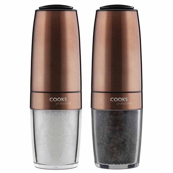 Cooks Professional G4235 Copper Gravity Salt and Pepper Mill Set No Colour