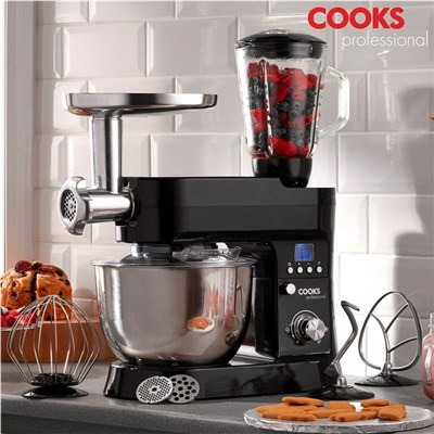 Cooks Professional G1183 Black Multi-Function 1200W Stand Mixer