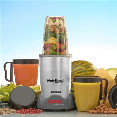 Cooks Professional D8999 10 Piece Silver NutriBlend 1000 Edition Blender