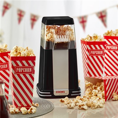Cooks Professional G3243 Black Retro Popcorn Maker with Six Popcorn Boxes