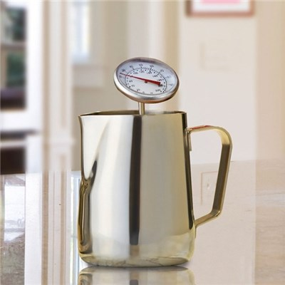 Cooks Professional D7754 Stainless-Steel Milk Jug with Thermometer