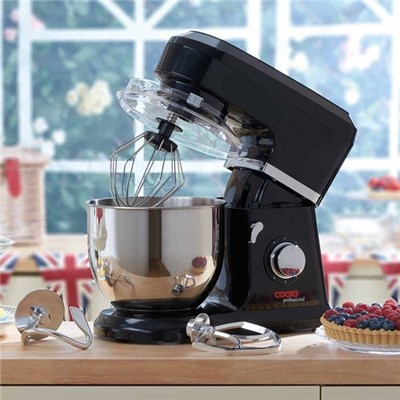 Cooks Professional D9271 Black Stand Mixer with Stainless Steel Bowl