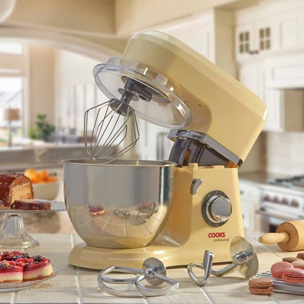 Cooks Professional D9272 Cream Stand Mixer with Stainless Steel Bowl No Colour