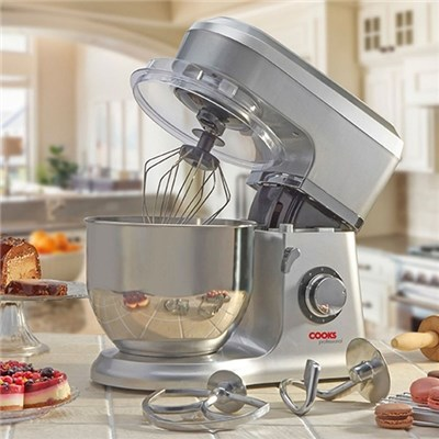 Cooks Professional D9270 Silver Stand Mixer with Stainless Steel Bowl
