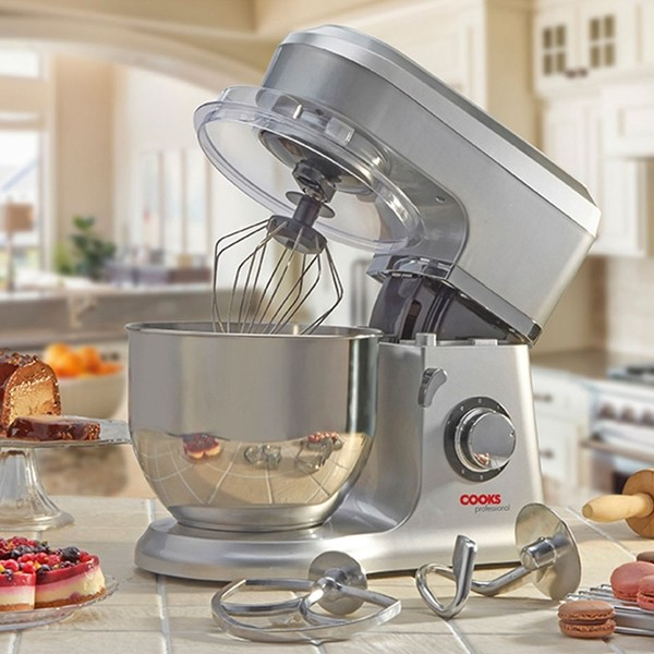 Cooks Professional D9270 Silver Stand Mixer with Stainless Steel Bowl No Colour