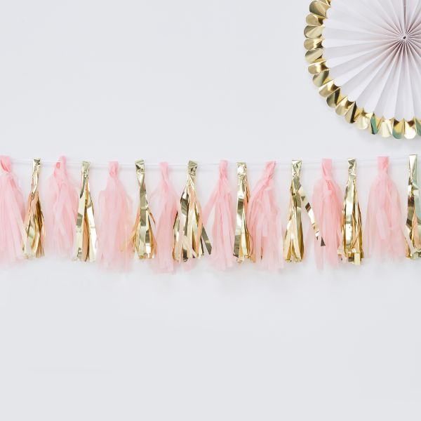 Ginger Ray Tassel Garland - Pink & Gold No Colour