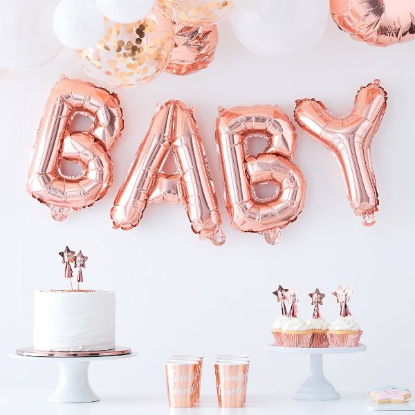 Ginger Ray Balloon Bunting - Baby No Colour