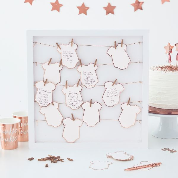 Ginger Ray Peg And String Frame Guestbook No Colour