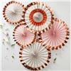 Ginger Ray Fan Decorations - Floral - 5 Pk
