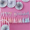 Ginger Ray Iridescent Script Happy Birthday Bunting - Iridescent Party