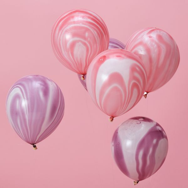 "Ginger Ray Balloons - 12"" Marble No Colour"