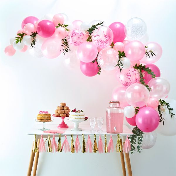 Ginger Ray Balloon Arch - Pink No Colour