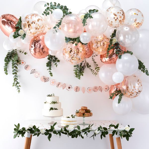 Ginger Ray Balloon Arch - Rose Gold No Colour