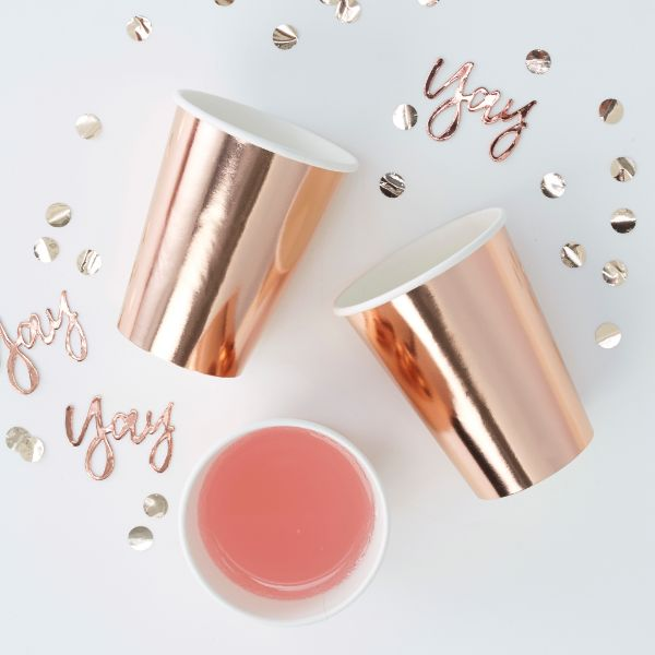 Ginger Ray Cup - Rose Gold No Colour
