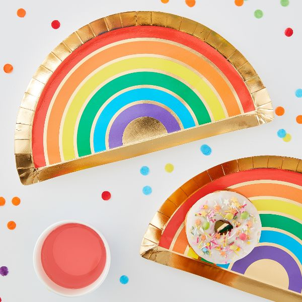 Ginger Ray Rainbow Plate No Colour
