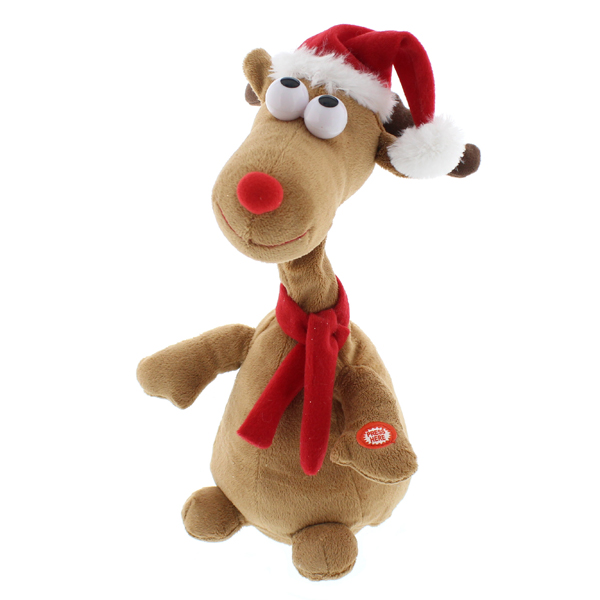 Dancing Long Neck Reindeer 38cm No Colour
