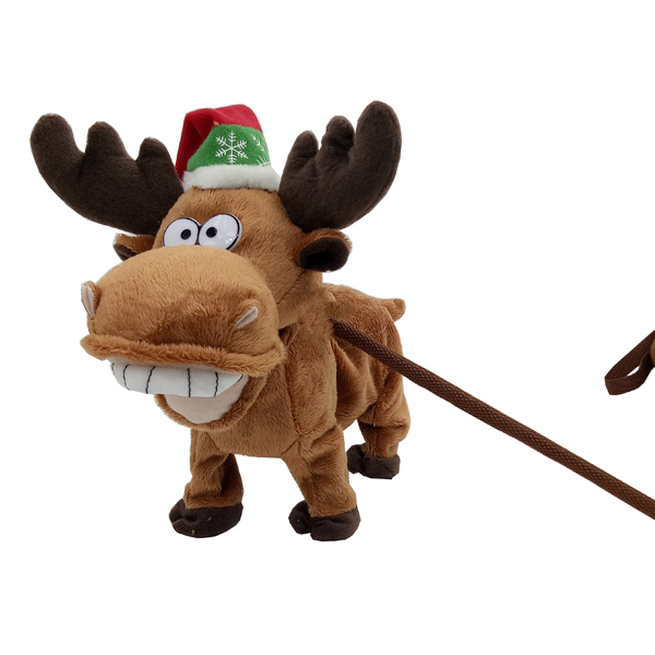 Animated Musical Xmas Walking Reindeer 28cm No Colour