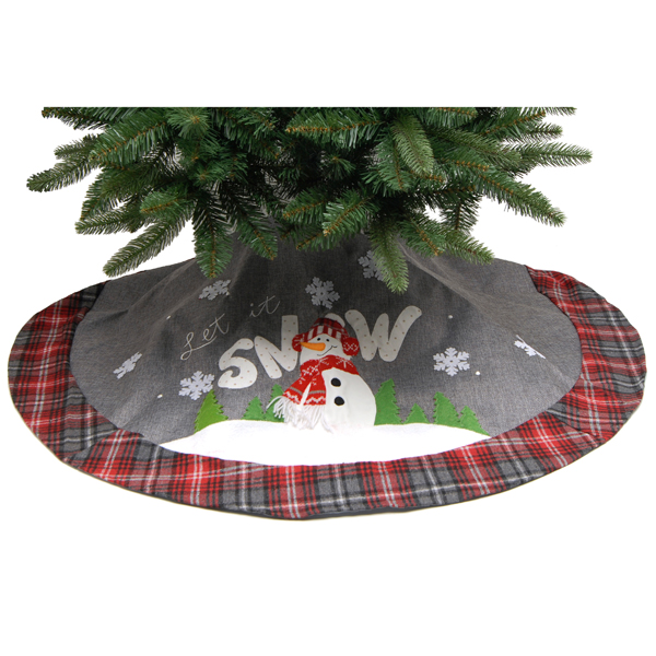 LED Lit Let it Snow Tree Skirt B/O 120cm No Colour
